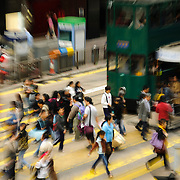 Rush hour at Chater Road, Central, Hong Kong Island, Hong Kong, China, East Asia