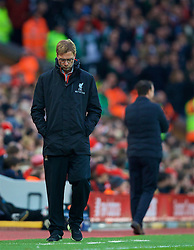 LIVERPOOL, ENGLAND - Saturday, January 7, 2017: Liverpool's manager Jürgen Klopp during the FA Cup 3rd Round match against Plymouth Argyle at Anfield. (Pic by David Rawcliffe/Propaganda)