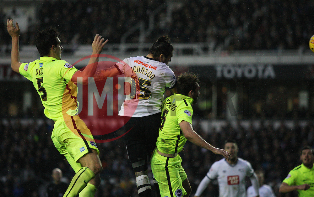 Bradley Johnson of Derby County scores his sides first goal - Mandatory byline: Jack Phillips / JMP - 07966386802 - 12/12/2015 - FOOTBALL - The iPro Stadium - Derby, Derbyshire - Derby County v Brighton & Hove Albion - Sky Bet Championship