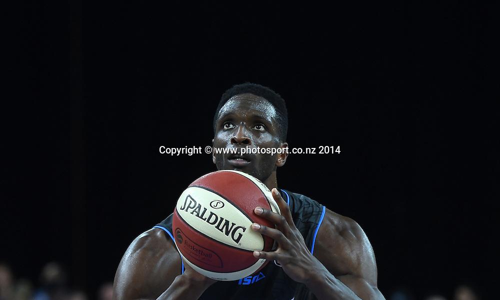 Ekene Ibekwe. SkyCity Breakers v Adelaide 36ers. 2014/15 ANBL Basketball Season. Vector Arena, Auckland, New Zealand. Friday 17 October 2014. Photo: Andrew Cornaga / www.photosport.co.nz