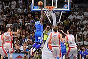 DESCRIZIONE : Campionato 2014/15 Serie A Beko Dinamo Banco di Sardegna Sassari - Grissin Bon Reggio Emilia Finale Playoff Gara3<br /> GIOCATORE : Rakim Sanders<br /> CATEGORIA : Schiacciata Controcampo<br /> SQUADRA : Dinamo Banco di Sardegna Sassari<br /> EVENTO : LegaBasket Serie A Beko 2014/2015<br /> GARA : Dinamo Banco di Sardegna Sassari - Grissin Bon Reggio Emilia Finale Playoff Gara3<br /> DATA : 18/06/2015<br /> SPORT : Pallacanestro <br /> AUTORE : Agenzia Ciamillo-Castoria/C.Atzori