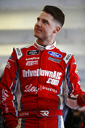 April 6, 2018 - Ft. Worth, Texas, United States of America - April 06, 2018 - Ft. Worth, Texas, USA: Ryan Reed (16) hangs out in the garage during practice for the My Bariatric Solutions 300 at Texas Motor Speedway in Ft. Worth, Texas. (Credit Image: © Chris Owens Asp Inc/ASP via ZUMA Wire)