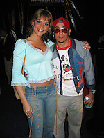 A.J. Chavez & wife.Spider Man Post Premiere Party.Wadsworth Theather Parking Lot.Brentwood, Los Angeles, CA.April 29, 2002.Photo By Antoine Desert/Celoebrityvibe.com..