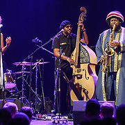 PATRICE QUINN, TONY AUSTIN, MILES MOSELY and KAMASI WASHINGTON perform at the Howard Theatre in Washington, D.C. Washington released his debut
