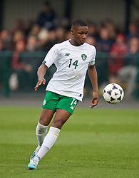 WREXHAM, WALES - Wednesday, October 30, 2019: Republic of Ireland's Edwin Agbaje during the 2019 Victory Shield match between Wales and Republic of Ireland at Colliers Park. (Pic by David Rawcliffe/Propaganda)