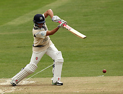 Middlesex's Neil Dexter plays through the covers - Photo mandatory by-line: Robbie Stephenson/JMP - Mobile: 07966 386802 - 03/05/2015 - SPORT - Football - London - Lords  - Middlesex CCC v Durham CCC - County Championship Division One