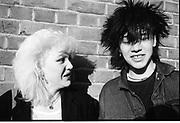 Dimity and Lori, High Wycombe, UK, 1980s.