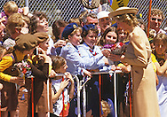 """PRINCESS DIANA.gets an enthusiastic welcome on arrival at Melbourne Airport at the start of their Australian Tour Melbourne_November 1985.27 years later Prince Charles returns to Austrlaia with Camilla, Duchess of Cornwall for the first time..Mandatory credit photo: ©Francis Dias/NEWSPIX INTERNATIONAL..(Failure to credit will incur a surcharge of 100% of reproduction fees)..                **ALL FEES PAYABLE TO: """"NEWSPIX INTERNATIONAL""""**..IMMEDIATE CONFIRMATION OF USAGE REQUIRED:.DiasImages, 31a Chinnery Hill, Bishop's Stortford, ENGLAND CM23 3PS.Tel:+441279 324672  ; Fax: +441279656877.Mobile:  07775681153.e-mail: info@newspixinternational.co.uk"""