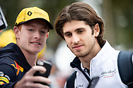 ALBERT PARK, VIC - MARCH 15: Alfa Romeo Racing driver Antonio Giovinazzi arrives at The Australian Formula One Grand Prix on March 15, 2019, at The Melbourne Grand Prix Circuit in Albert Park, Australia. (Photo by Speed Media/Icon Sportswire)