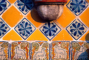 MEXICO, COLONIAL, PUEBLA San Francisco Acatepec, tiled facade