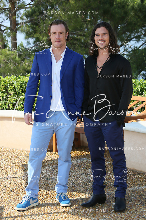"MONTE-CARLO, MONACO - JUNE 10:  Toby Stephens and Luke Arnold attend ""Black Sails"" Photocall at the Monte Carlo Bay Hotel on June 10, 2014 in Monte-Carlo, Monaco.  (Photo by Tony Barson/FilmMagic)"