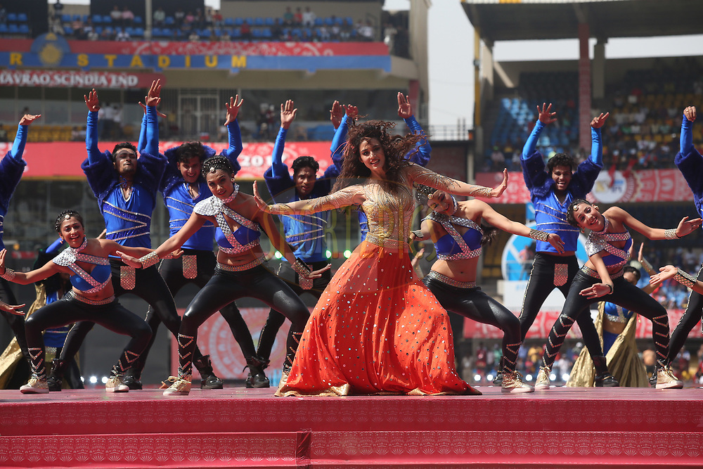 Disha Patani performs during the opening ceremony before match 4 of the Vivo 2017 Indian Premier League between the Kings XI Punjab and the Rising Pune Supergiant held at the Holkar Cricket Stadium in Indore, India on the 8th April 2017<br /> <br /> Photo by Shaun Roy - IPL - Sportzpics
