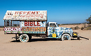 Painted Truck Parked at Salvation Mountain