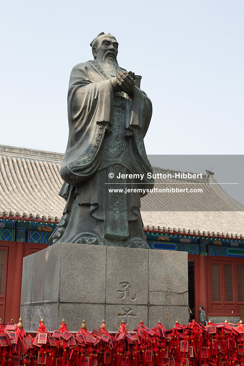 Statue of Confucius at Imperial College, in Beijing, China, Saturday 2nd June 2012.
