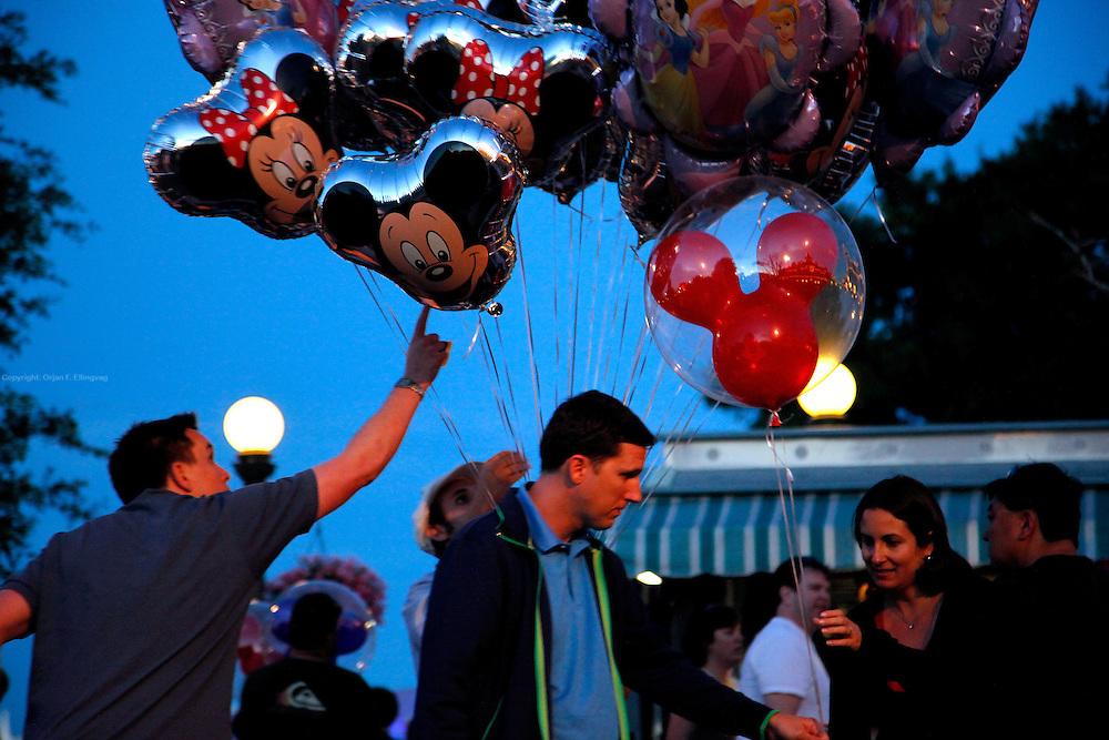 Orlando, Florida, USA, 20090324: The Disney Magic Kingdom in Orlando. Balloons. Photo: Orjan F. Ellingvag/ Dagbladet/ Corbis