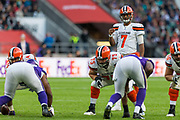Cleveland Browns Quarterback DeShone Kizer (7) during the International Series match between Cleveland Browns and Minnesota Vikings at Twickenham, Richmond, United Kingdom on 29 October 2017. Photo by Jason Brown.