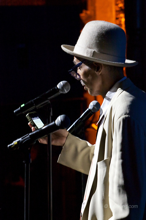 Babi Floyd in his farewell performance at the Apollo Theater, New York, NY, May 19, 2013.