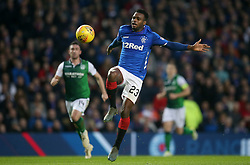 Rangers' Lassana Coulibaly on the ball during the Scottish Premiership match at Ibrox Stadium, Glasgow.