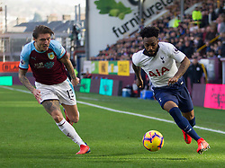Jeff Hendrick of Burnley (L) and Danny Rose of Tottenham Hotspur in action - Mandatory by-line: Jack Phillips/JMP - 23/02/2019 - FOOTBALL - Turf Moor - Burnley, England - Burnley v Tottenham Hotspur - English Premier League