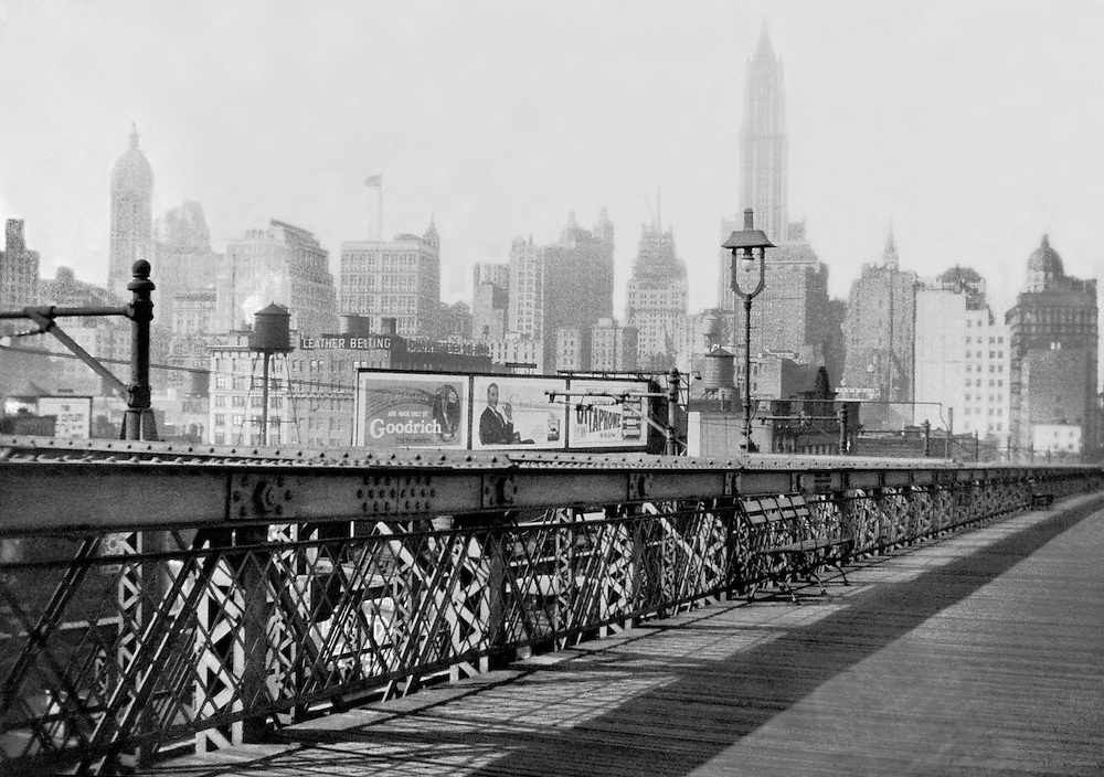 Manhattan from the Brooklyn Bridge, New York City, 1925