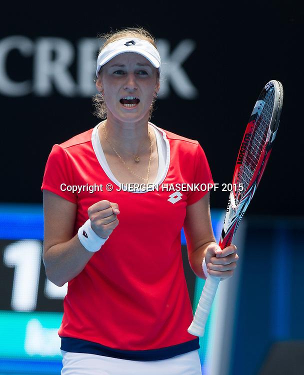 Ekaterina Makarova (RUS)<br /> <br /> Tennis - Australian Open 2015 - Grand Slam ATP / WTA -  Melbourne Olympic Park - Melbourne - Victoria - Australia  - 25 January 2015.
