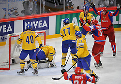 11.05.2012, Ericsson Globe, Stockholm, SWE, IIHF, Eishockey WM, Russland (RUS) vs Schweden (SWE), im Bild, Russia 11 Yevgeni Malkin (Pittburgh Penguins) goal chearing happy // during the IIHF Icehockey World Championship Game between Russia (RUS) and Sweden (SWE) at the Ericsson Globe, Stockholm, Sweden on 2012/05/11. EXPA Pictures © 2012, PhotoCredit: EXPA/ PicAgency Skycam/ Simone Syversson..***** ATTENTION - OUT OF SWE *****