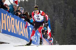 Julian Eberhard (AUT) in action during the Pursuit Men 12,5 km at day 8 of IBU Biathlon World Cup 2018/19 Pokljuka, on December 9, 2018 in Rudno polje, Pokljuka, Pokljuka, Slovenia. Photo by Urban Urbanc / Sportida