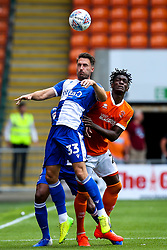 Alex Rodman of Bristol Rovers challenges Armand Gnanduillet of Blackpool - Mandatory by-line: Robbie Stephenson/JMP - 03/08/2019 - FOOTBALL - Bloomfield Road - Blackpool, England - Blackpool v Bristol Rovers - Sky Bet League One