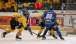 03.03.2019, Albert Schultz Halle, Wien, AUT, EBEL, Vienna Capitals vs Fehervar AV 19, Platzierungsrunde, 51. Runde, im Bild Torschuss zum 1:0 durch Csanad Erdely (Fehervar AV 19) // during the Erste Bank Eishockey League 51th round match between Vienna Capitals and Fehervar AV 19 at the Albert Schultz Halle in Wien, Austria on 2019/03/03. EXPA Pictures © 2019, PhotoCredit: EXPA/ Alexander Forst