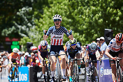 Ruth Winder (USA) wins Stage 3 of 2020 Santos Women's Tour Down Under, a 109.1 km road race from Nairne to Stirling, Australia on January 18, 2020. Photo by Sean Robinson/velofocus.com