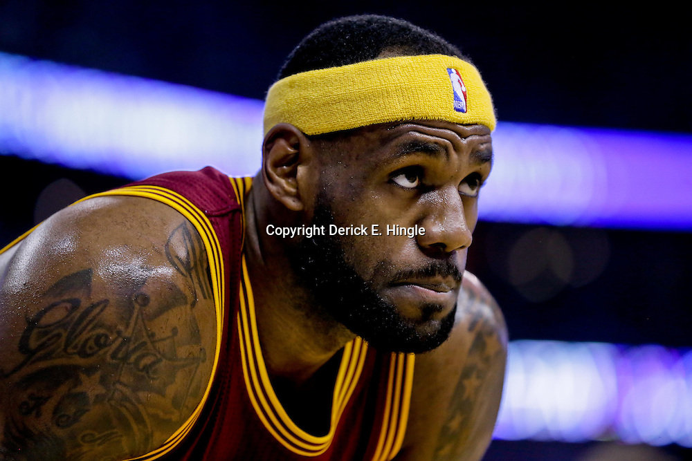 Dec 12, 2014; New Orleans, LA, USA; Cleveland Cavaliers forward LeBron James (23) against the New Orleans Pelicans during the first quarter of a game at the Smoothie King Center. Mandatory Credit: Derick E. Hingle-USA TODAY Sports