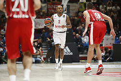 November 17, 2017 - Milan, Milan, Italy - Ricky Hickman (#2 Brose Bamberg) drives to the basket during a game of Turkish Airlines EuroLeague basketball between  AX Armani Exchange Milan vs Brose Bamberg at Mediolanum Forum, on November 17, 2017 in Milan, Italy. (Credit Image: © Roberto Finizio/NurPhoto via ZUMA Press)