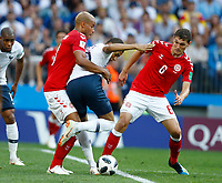 Kylian Mbappe (France) between Mathias Jorgensen and Andreas Christensen (Denmark) <br /> Moscow 26-06-2018 Football FIFA World Cup Russia  2018 <br /> Denmark - France / Danimarca - Francia<br /> Foto Matteo Ciambelli/Insidefoto