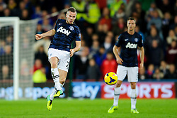 Man Utd Midfielder Tom Cleverley (ENG) in action during the first half of the match - Photo mandatory by-line: Rogan Thomson/JMP - Tel: Mobile: 07966 386802 - 24/11/2013 - SPORT - FOOTBALL - Cardiff City Stadium - Cardiff City v Manchester United - Barclays Premier League.