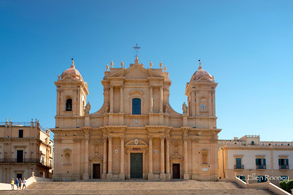 A view of the Duomo (Santa Nicola e Corado) in Noto, a UNESCO World Heritage Site in Sicily, Italy