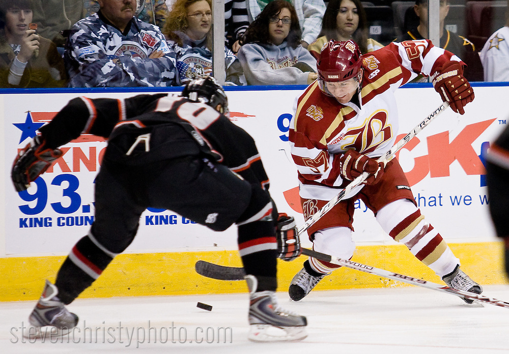 November 20, 2008: The Amarillo Gorillas of the CHL play against the Oklahoma City (OKC) Blazers at the Ford Center in Oklahoma City, OK.