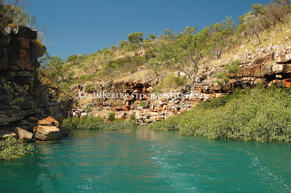 A remote gorge in Deception Bay, Camden Sound, on the Kimberley coast.
