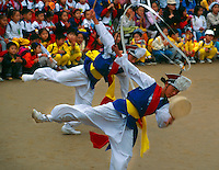 Farmer's Dance (celebrating the good harvest), Korean Folk Village, near Suwon, South Korea