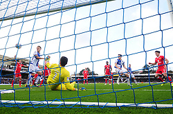 Lee Nicholls of Milton Keynes Dons makes the save save from Tom Lockyer of Bristol Rovers header  - Mandatory by-line: Dougie Allward/JMP - 28/10/2017 - FOOTBALL - Memorial Stadium - Bristol, England - Bristol Rovers v Milton Keynes Dons - Sky Bet League One
