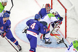 Miha Verlic of Slovenia during Ice Hockey match between National Teams of Great Britain and Slovenia in Round #1 of 2018 IIHF Ice Hockey World Championship Division I Group A, on April 22, 2018 in Budapest, Hungary. Photo by David Balogh / Sportida