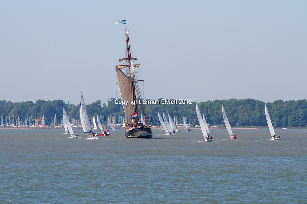 Dutch sailing barge in River Orwell