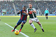 Dominic Poleson (11) of Bradford City battles for possession with David Fox (24) of Plymouth Argyle during the EFL Sky Bet League 1 match between Plymouth Argyle and Bradford City at Home Park, Plymouth, England on 24 February 2018. Picture by Graham Hunt.