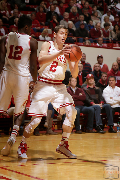Indiana guard Nick Zeisloft (2) as Texas Southern University played Indiana in an NCCA college basketball game, Monday, Nov. 17, 2014 in Bloomington, Ind.. (AJ Mast /Photo)