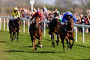 Fearless Warrior ridden by Harry Bentley and trained by Ralph Beckett and West End Charmer ridden by Adam Kirby and trained by Mark Johnston  - Ryan Hiscott/JMP - 19/04/2019 - PR - Bath Racecourse- Bath, England - Race 3 - Good Friday Race Meeting at Bath Racecourse