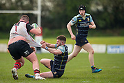 28/04/2018,  Hatrick Park, Magherafelt<br /> Rainy Old Boys vs Navan RC, AIL Div 2A / Div 2B promotion Final<br /> Brian Haugh (Navan RC) & Tommy O`Hagan (Rainy Old Boys)<br /> <br /> David Mullen / www.cyberimages.net<br /> ISO: 640; Shutter: 1/1250; Aperture: 4<br /> File Size: 2.6MB<br /> Print Size: 8.6 x 5.8 inches