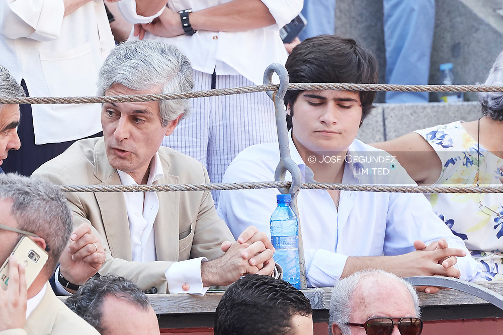 Adolfo Suarez Yllana, Adolfo Suarez Flores attended Beneficencia bullfight at Las Ventas Bullring on June 16, 2017 in Madrid, Spain