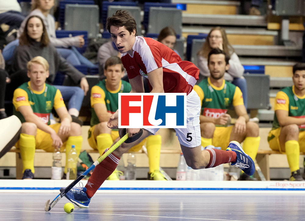 BERLIN - Indoor Hockey World Cup<br /> Men: Austria - South Africa<br /> foto: STEYRER Florian.<br /> WORLDSPORTPICS COPYRIGHT FRANK UIJLENBROEK