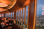 "Located at the top of the Sydney Tower ""360 Bar and Dining Room"" where the unique rotating floor ensures breathtaking, uninterrupted 360 degree views of Sydney. Sydney Tower (also known as the AMP Tower, AMP Centrepoint Tower, Centrepoint Tower or just Centrepoint) is Sydney's tallest free-standing structure, and the second tallest in Australia at 305m. Architect: Donald Crone and Associates Constructed 1970-1981 Sydney, Australia"