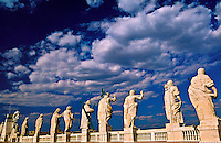 Statues on the roof of St. Peter's Basilica, Vatican, Rome, Italy