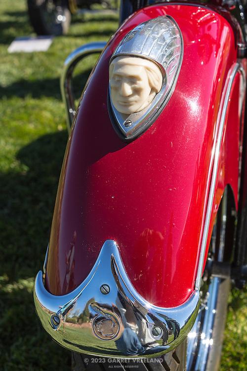 1947 Indian Chief closeup, at the 2012 Santa Fe Concorso.